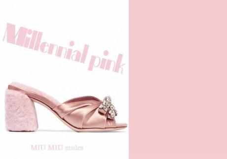 Millennial pink - miu miu mules
