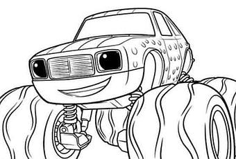 Aj from blaze coloring pages sketch coloring page for Blaze and the monster machine coloring pages