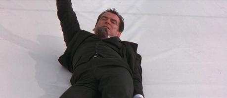 """Bond's Unique Charcoal Striped """"No Cigar"""" Suit"""