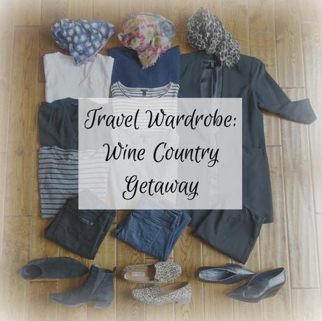 travel wardrobe for spring in California wine country