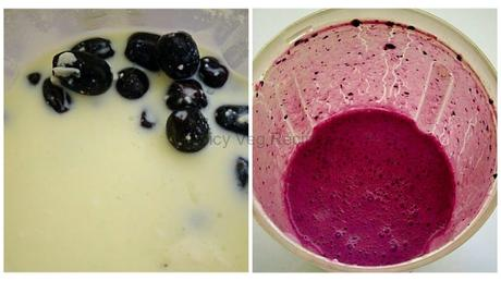 Black grape smoothie recipe-with photo