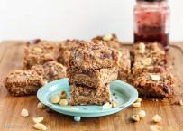 Peanut Butter & Jelly Crumb Bars (GF + Vegan)