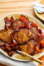 Rutabaga Fritters with Bacon