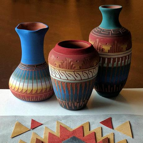 Navajo Pottery Inspiration for Tribe Series by TealCup