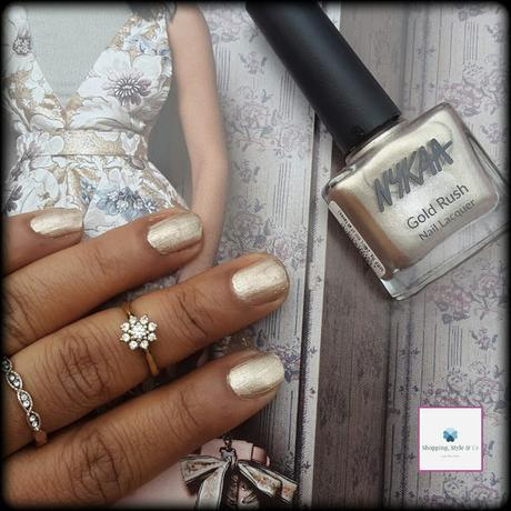On My Nails W10 - Nykaa No. 122 Champagne Gold from Gold Rush Collection