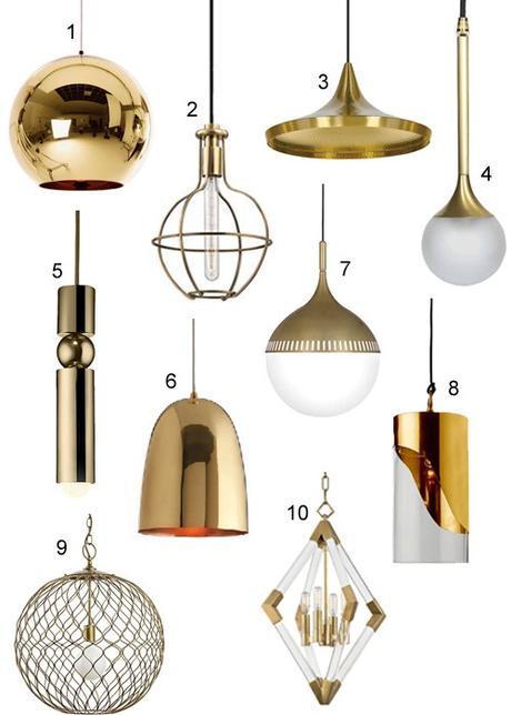Modern Brass Pendant Lights For Kitchens & Baths