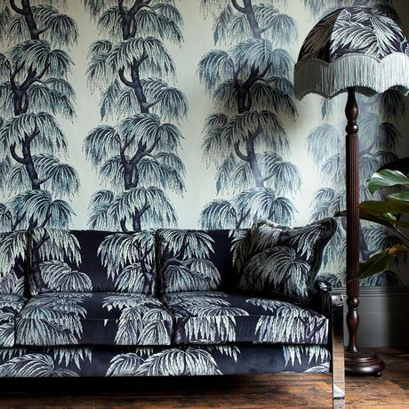 5 Tips for Incorporating Bold Wallpapers in your Home - If you are feeling brave with your décor, then layering up different patterns, in complimentary colour tones, is a sure way to create a truly eclectic and quirky look. The stunning fabric and wallpaper design is 'Babylon' by House of Hackney.