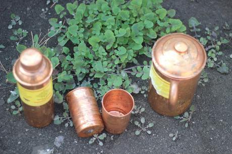 Indian ArtVilla Copper Jug and Glass Set