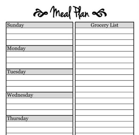 Simple Meal Planning Template!