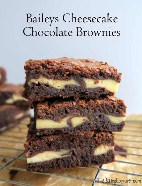 Baileys Cheesecake Chocolate Brownies