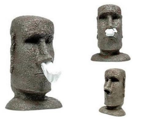 Moai Tissue Holder