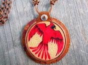 Bird (Cardinal) Copper Pendant Necklace Cardi...