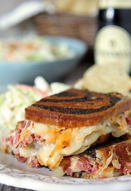 Homemade Reuben Sandwiches with Pressure Cooker Corned Beef