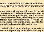 First Gulf War: Pauling Speaks