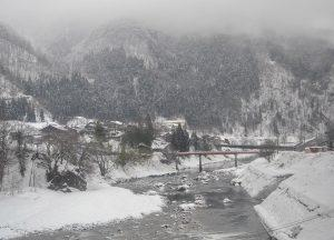 Views from Train. JR Japan Rail Pass Travel in Winter February Snow