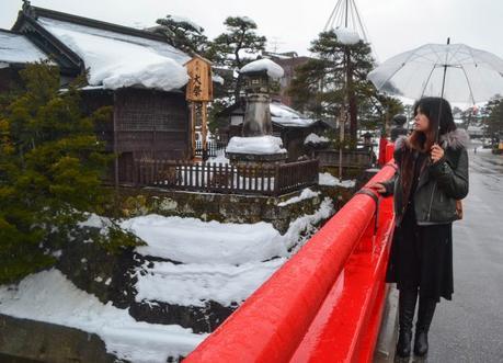 Nakabashi Bridge Takayama, JR Japan Rail Pass Travel in Winter February Snow