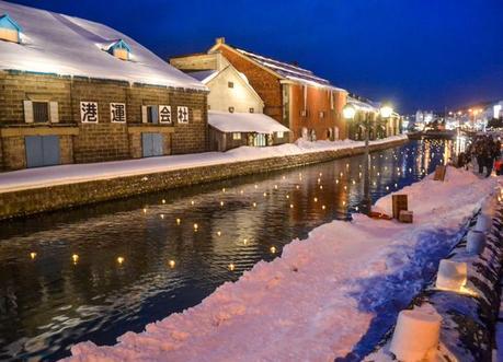 Otaru Light Festival, JR Japan Rail Pass Travel in Winter February Snow