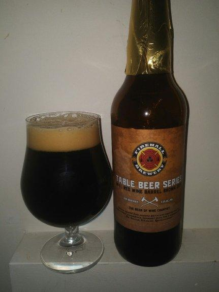 Table Beer Series #1 Red Wine Barrel Brown 2016 – Firehall Brewery