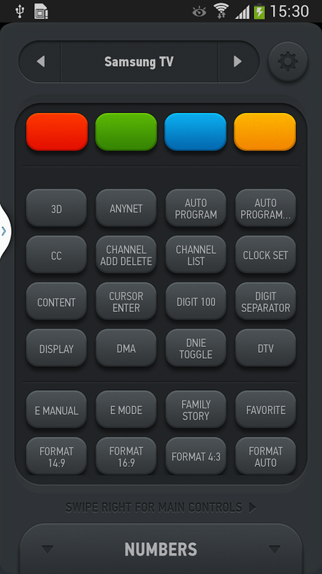 Smart IR Remote for Galaxy S4 - screenshot