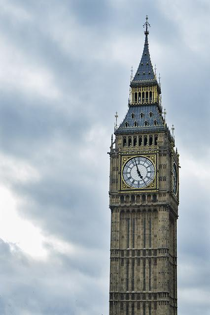 Clock Tower that Holds Big Ben  (two double Decker busses can fit side by side through that clock face!)