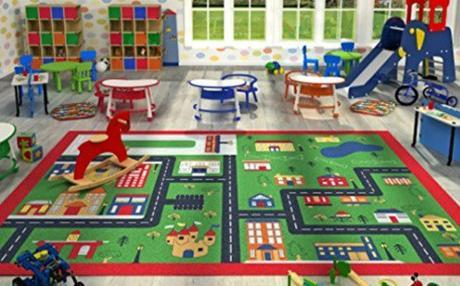 Large Kids Play Rug by FunkyBuys