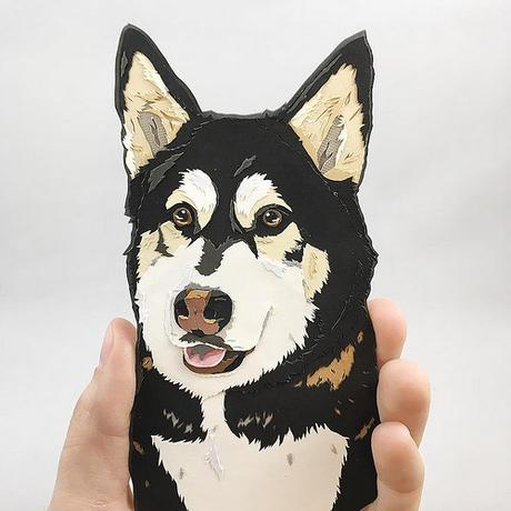 Custom Paper Pet Portrait - Max