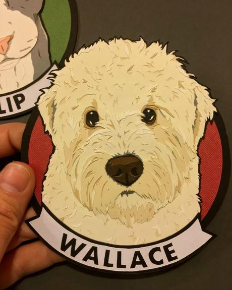 Custom Paper Pet Portrait - Wallace