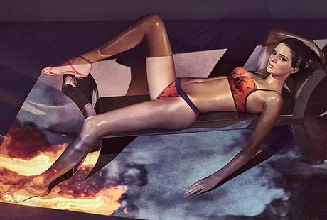 Kendall Jenner Sizzles in La Perla Campaign