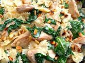 Skillet Chicken Spinach Bowties