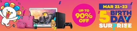 Lazada 5th Birthday Sale Treats - March 21-23