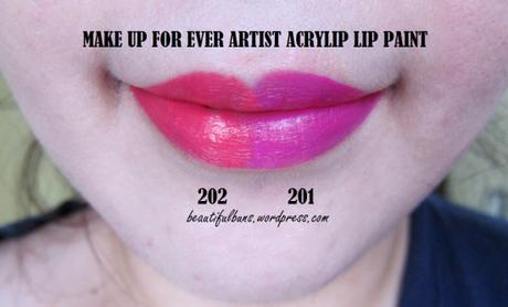 Review/Swatches: Make Up For Ever Artist Acrylip Lip Paint
