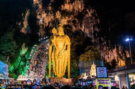 Masses of people at Thaipusam 2017, Batu Caves, Kuala Lumpur, Malaysia