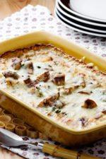 Fish Casserole with Mushrooms and French Mustard