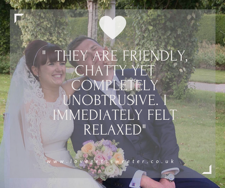 wedding video review saying how friendly and unobtrusive love gets sweeter wedding films are at thornton manor