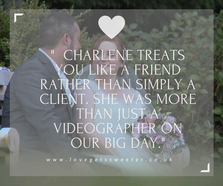bride and groom review for wedding videography at Rowton Hall Cheshire