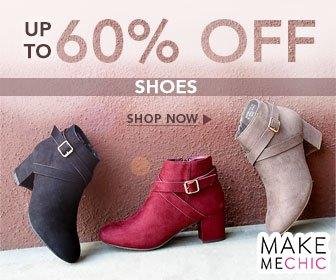 Shoe Sale! Save 60% on Shoes at MakeMeChic.com