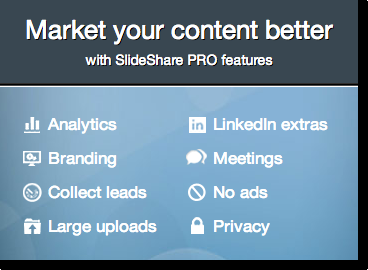 Slideshare premium options