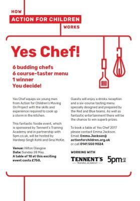 Event: Yes Chef! 28th May 2017