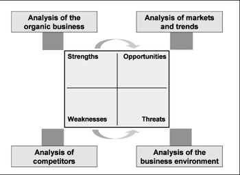 English: Figure 10: SWOT-Analysis of the organ...