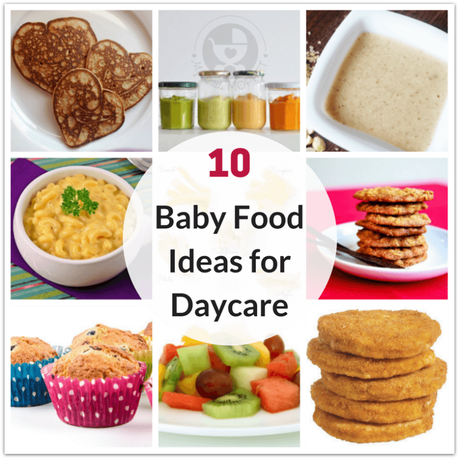Here are 10 healthy baby food ideas for daycare - all homemade! Choose from purees, porridge, fruit, vegetables and more to ensure baby is always well fed!