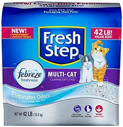 fresh step cat litter fresh step multiple cat litter strength 42pound - Cat Litter Reviews