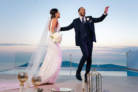 Chic fall wedding in Santorini | Sepideh & Andre