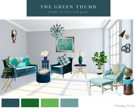Mood Boards- A welcoming and relaxing living room- How to create mood boards.