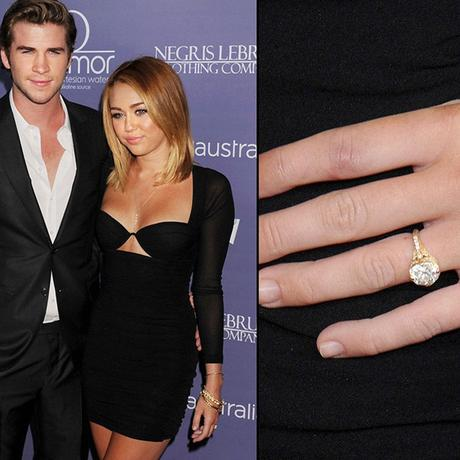 Miley Cyrus-Diamond-Engagement-Ring