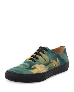 When Print Goes Right:  Dries Van Noten Cotton Low-Top Sneaker