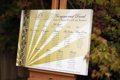 Table Plans, Seating Charts and Welcome Signs!