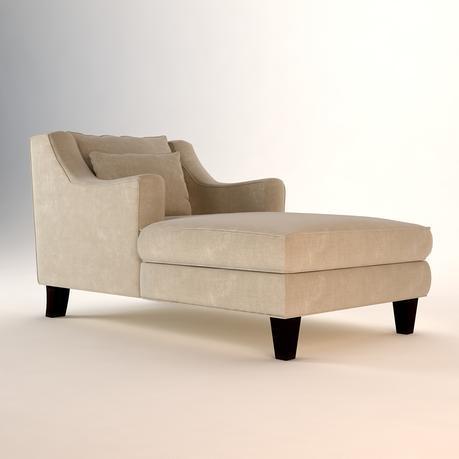 Microfiber Chaise Lounge Chair ...