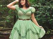 Vintage Swing Dress, Flower Crown, Rago Shapewear