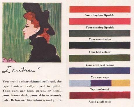 1940s Makeup-to-match-the-Artists-Palette -Lautrec