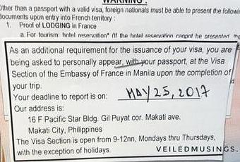 French Visa Application – Manila Via VFS Global - Paperblog